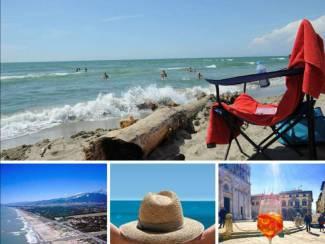 Italie Toscane   Italie   Stacaravan aan zee    Viareggio